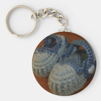 Blue Baby Shoes Key Ring