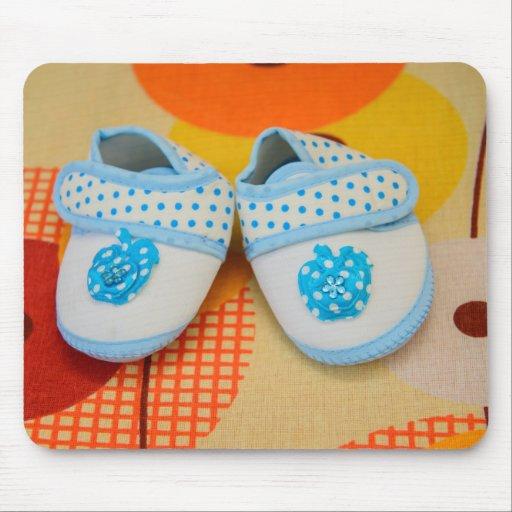 Blue baby shoes mousepad