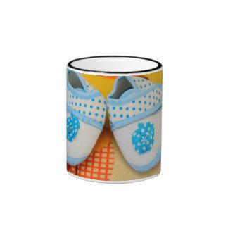 Blue baby shoes coffee mugs