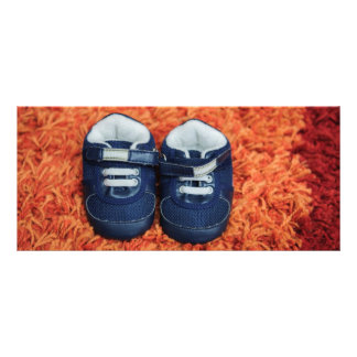 Blue baby shoes rack cards