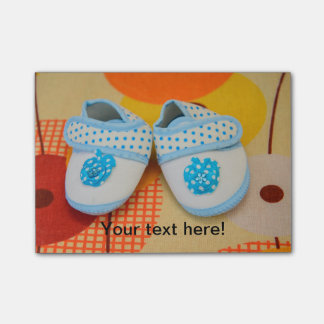 Blue baby shoes post-it® notes