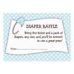Blue Baby Shower Diaper Raffle Ticket Insert Pack Of Chubby Business Cards
