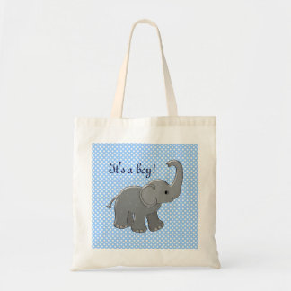 blue baby shower elephant bags