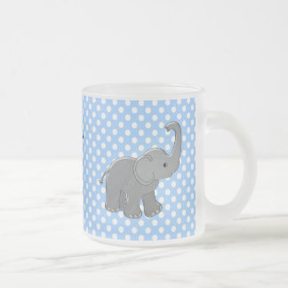 blue baby shower elephant coffee mug