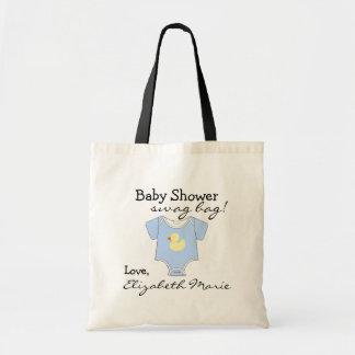 Blue Baby Shower Guest Favor Budget Tote Bag