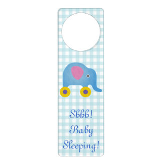 Blue Baby Sleeping Door Hanger