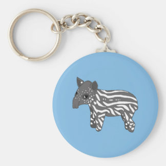 blue baby tapir key ring