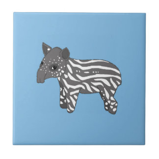 blue baby tapir tile