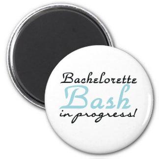 Blue Bachelorette Bash Refrigerator Magnets
