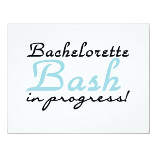 Blue Bachelorette Bash T-shirts and Gifts 11 Cm X 14 Cm Invitation Card