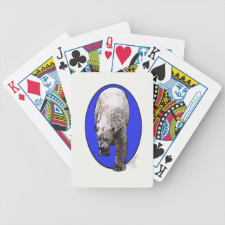 Blue Background Polar Bear_2017-04-23 15-06-09 Bicycle Playing Cards