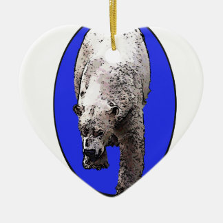 Blue Background Polar Bear_2017-04-23 15-06-09 Ceramic Heart Decoration
