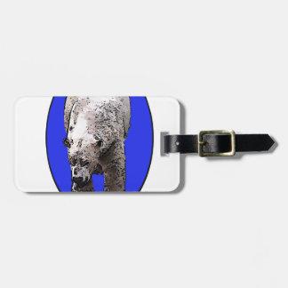 Blue Background Polar Bear_2017-04-23 15-06-09 Luggage Tag
