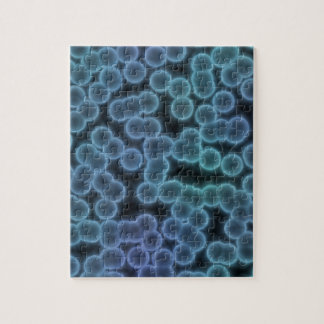 Blue bacteria background jigsaw puzzle