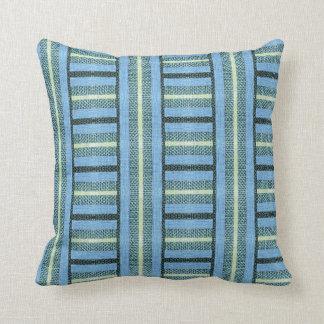 Blue Baja Sweater Burlap Throw Cushions