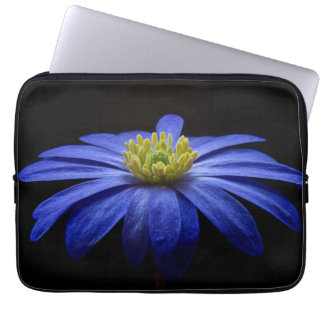 Blue Balkan Anemone flower Laptop Sleeve
