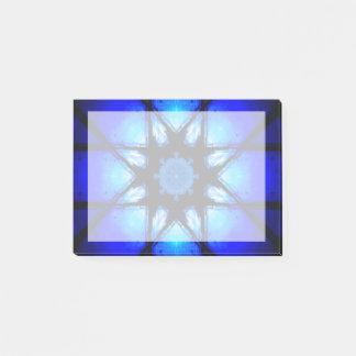 Blue Ball Illusion Mandala Post-it Notes