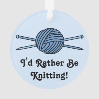 Blue Ball of Yarn & Knitting Needles (Version 2)