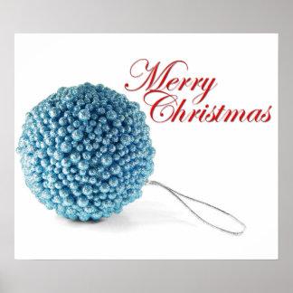 Blue Ball Red Merry Print