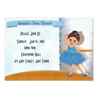 Blue Ballerina Invitation
