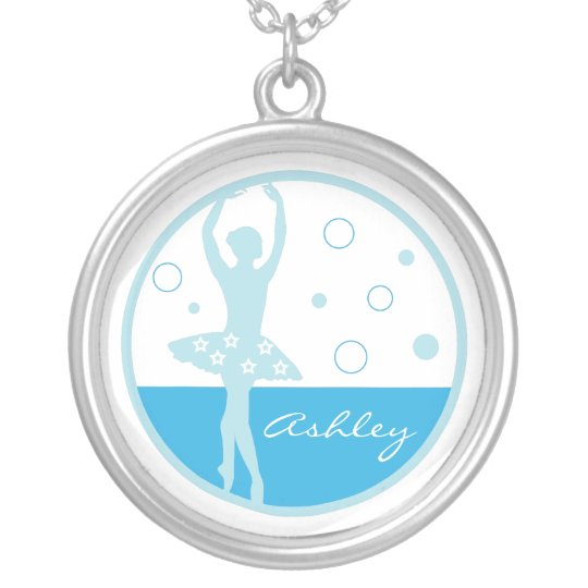 Blue Ballerina Necklace