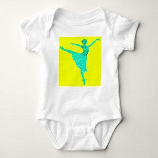 Blue Ballerina New Year Baby Jersey Bodysuit
