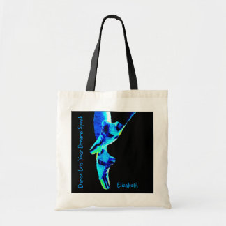 Blue Ballet Pointe Slippers Personalized Budget Tote Bag