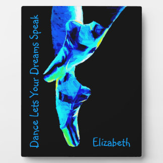 Blue Ballet Pointe Slippers Personalized Plaque
