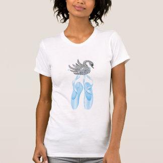 Blue Ballet Shoes Swan T-Shirt