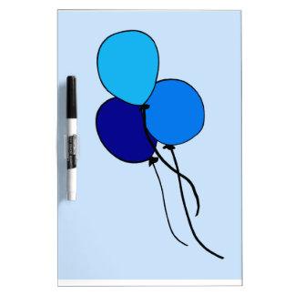 Blue  Ballons Dry-Erase Board