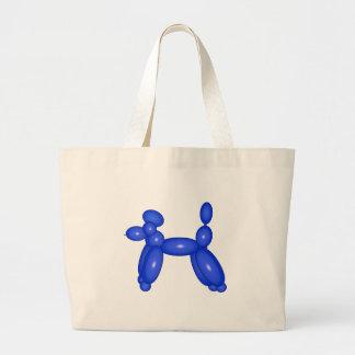 Blue Balloon Animal Dog Canvas Bag