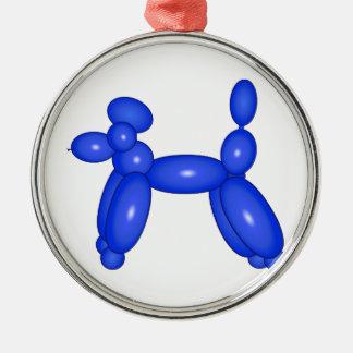 Blue Balloon Animal Dog Christmas Ornament