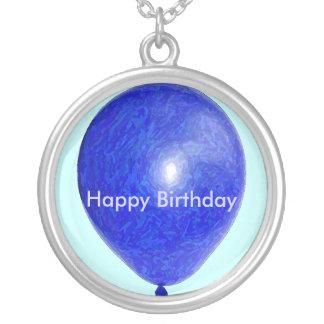 Blue Balloon Necklace