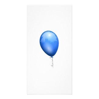 Blue Balloon Photo Greeting Card