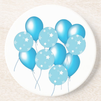 Blue balloons coasters
