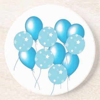 Blue balloons coasters