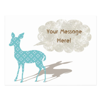 Blue Bambi All Occasion Custom Postcard