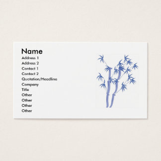 Blue bamboo business card