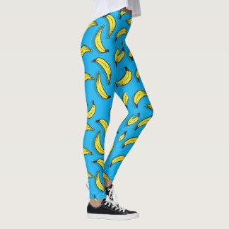 Blue Bananas Pattern Legging