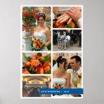 Blue band 6 multi photo collage memories keepsake posters