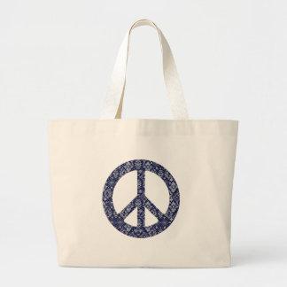 Blue Bandana Peace Sign Bag