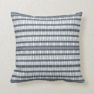Blue Bands Throw Pillow