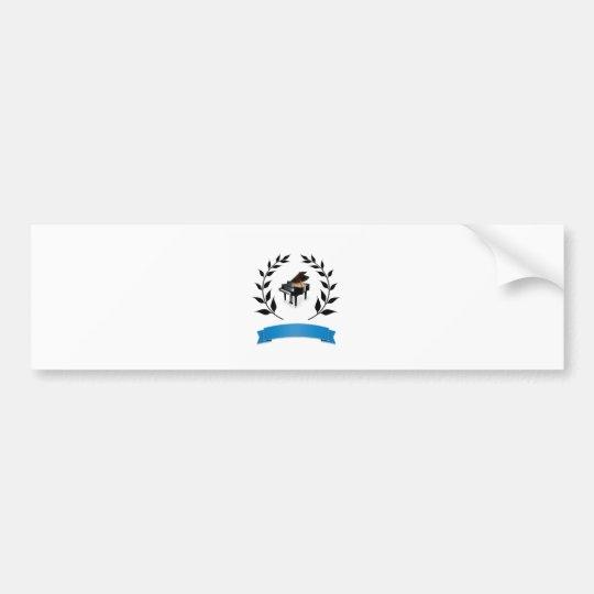 blue banner piano bumper sticker