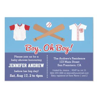 "Blue Baseball baby boy shower party invitation 4.5"" X 6.25"" Invitation Card"