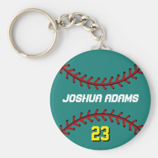 Blue Baseball Keychain for Sports Fan and Athletes
