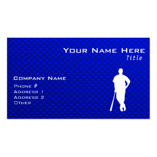 Blue Baseball Player Double-Sided Standard Business Cards (Pack Of 100)
