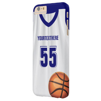 Blue Basket Ball Dress Name Number Barely There iPhone 6 Plus Case