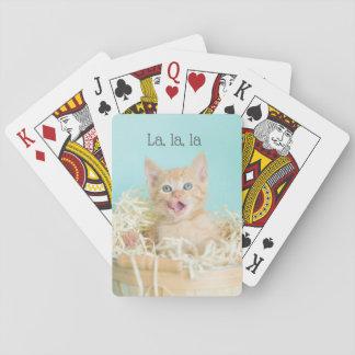 Blue basket Kitten La, la, la Playing Cards