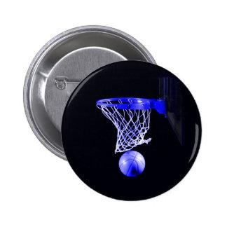 Blue Basketball 6 Cm Round Badge