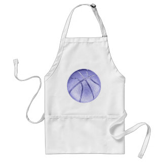 Blue Basketball Adult Apron